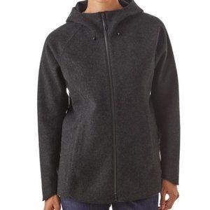 Patagonia Wool Blend Hoody Jacket Coat Black Large